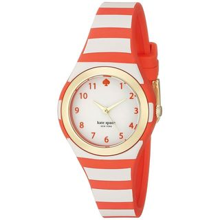Kate Spade Women's 1YRU0771 'Rumsey' Orange Silicone Watch