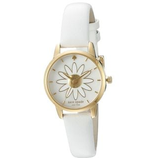Kate Spade Women's KSW1086 'Metro' Spring Flowers White Leather Watch