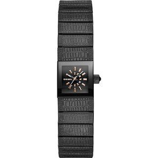 Diesel Women's DZ5483 'Ruki' Black Leather Watch