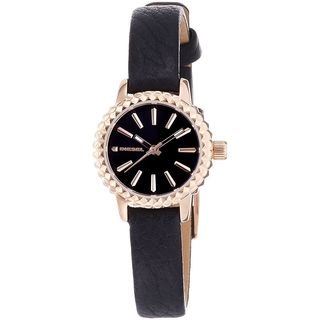 Diesel Women's 'Timeframe' Black Leather Watch