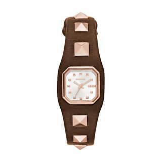 Diesel Women's DZ5504 'Timeframe' Brown Leather Watch