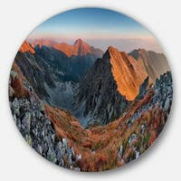 Designart 'Slovakia Mountains at Autumn' Landscape Disc Metal Wall Art