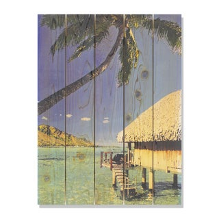 Tropic Paradise 28x36 Indoor/Outdoor Full Color Cedar Wall Art