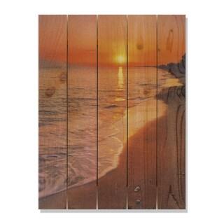 Sunset Beach 28x36 Indoor/Outdoor Full Color Cedar Wall Art