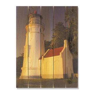 Light House 28x36 Indoor/Outdoor Full Color Cedar Wall Art