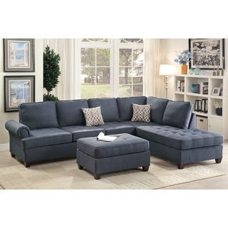 Mannie 3-PCs Sectional Sofa Set