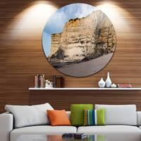 Designart 'Portuguese Atlantic Coast Panorama' Landscape Large Disc Metal Wall art