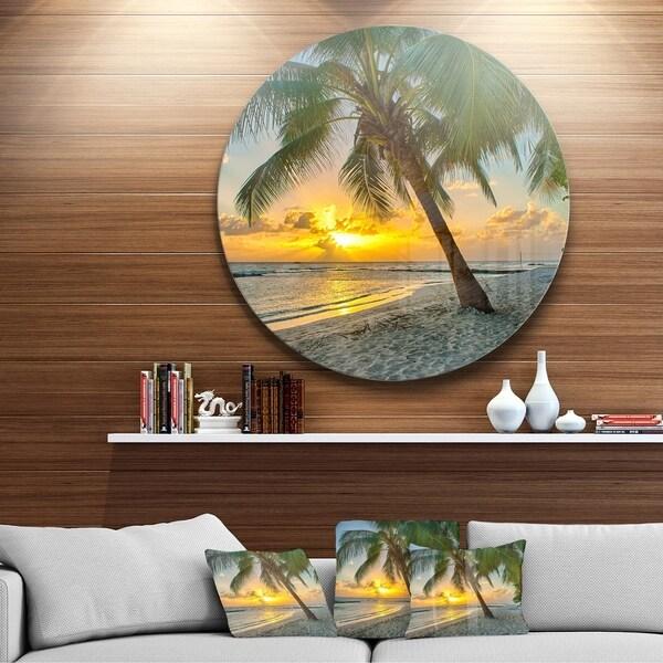 881a401909 Designart 'Beach in Caribbean Island of Barbados' Modern Seascape