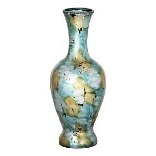Light Blue Green Long Neck Amphora Heart Vase