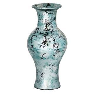 Silver Black Amphora Large Mouth Vase