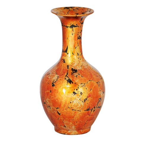 Copper Long Neck Trumpet Decantor Vase