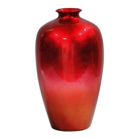 Solid Red Bud Water Jar Vase