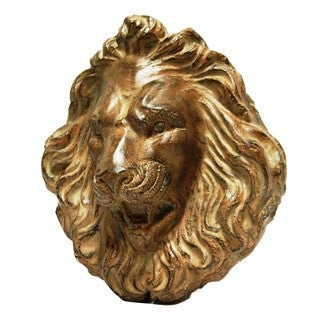 18-inch Roaring Lion Head Wall Plaque