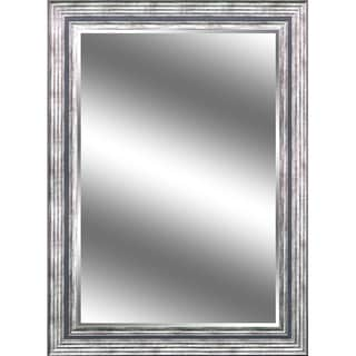 Reflection Odessa Silver Color Frame Beveled Wall Mirror