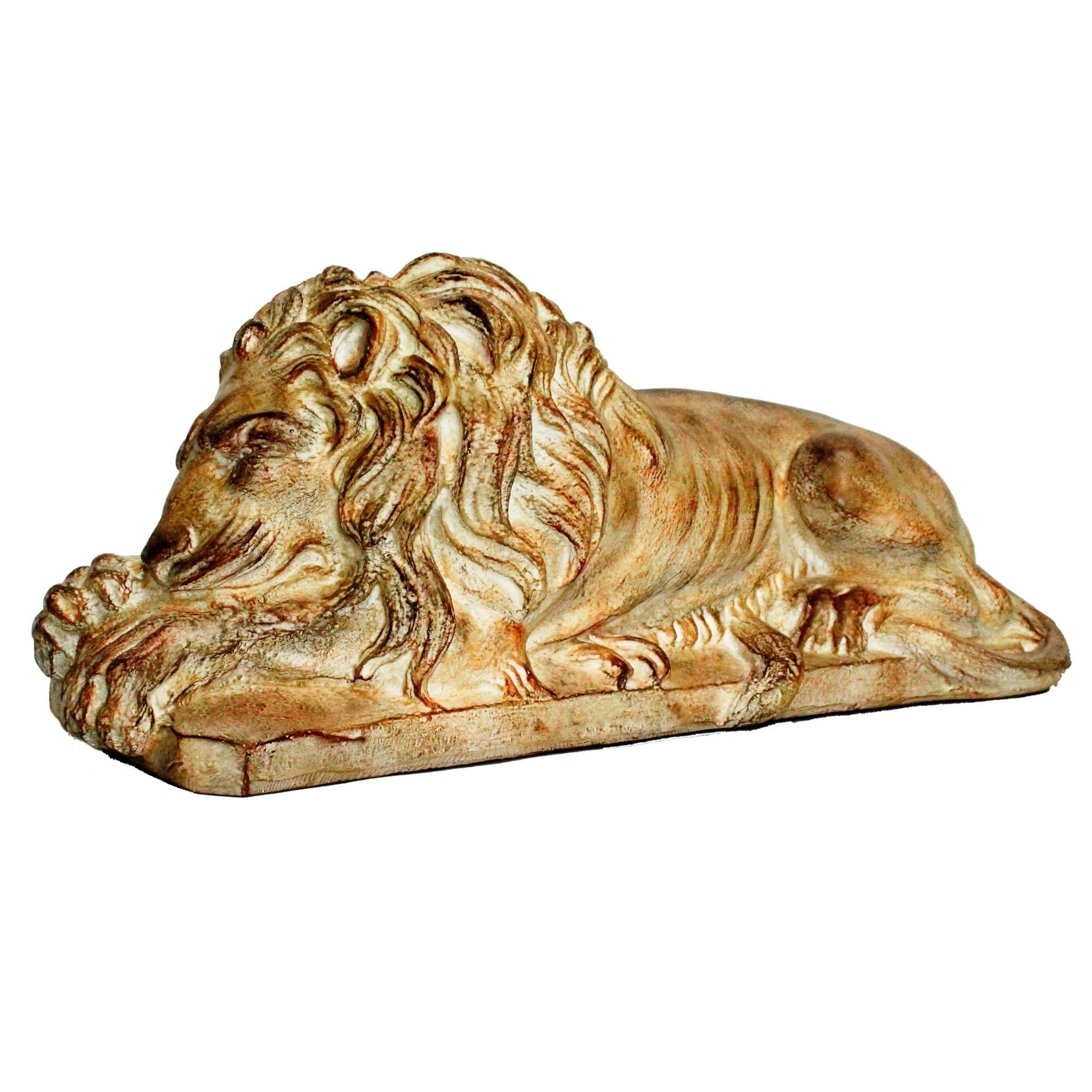 31-inch Brown Laying Lion Statue (Resin), Outdoor Décor