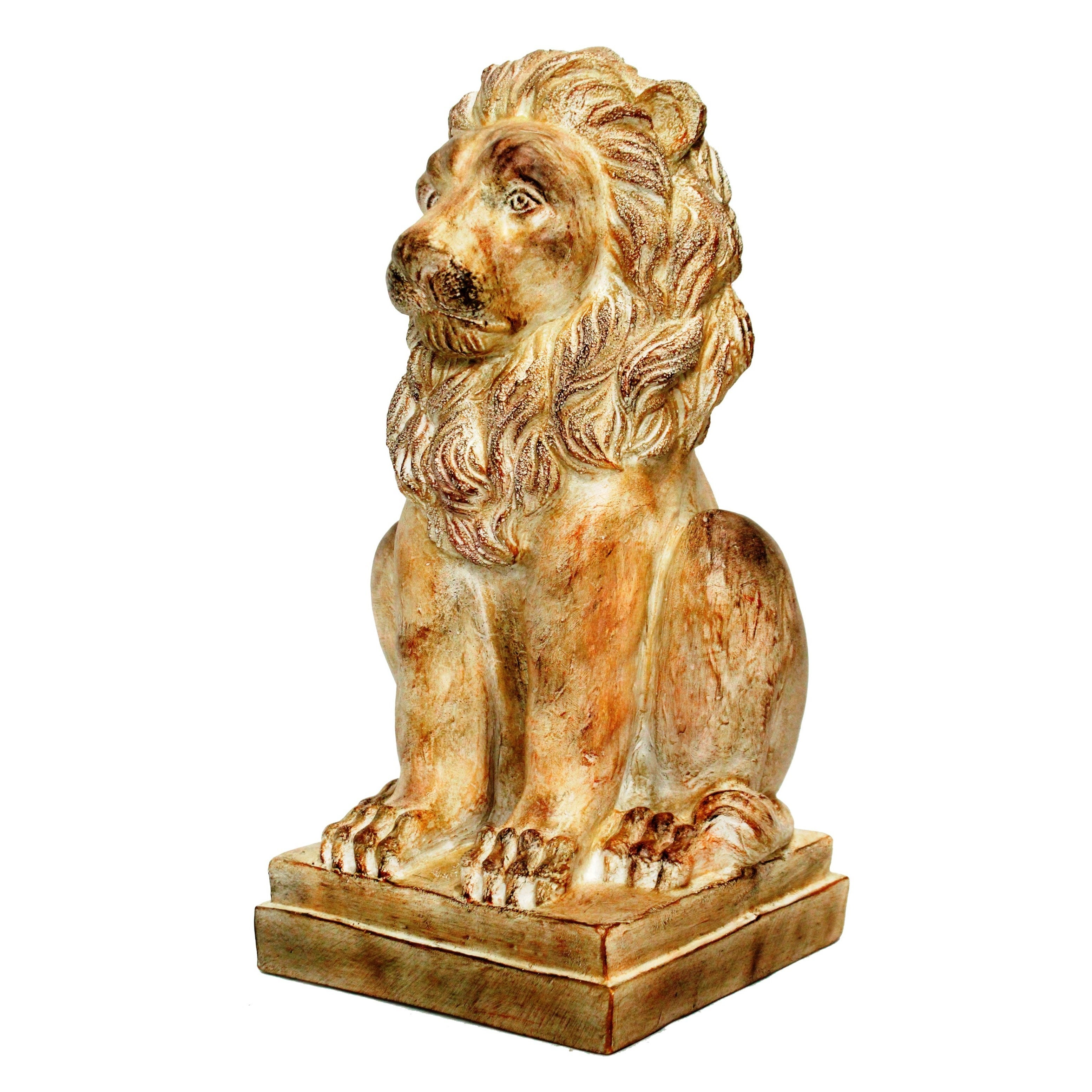 24-inch Brown Lion Statue (Resin), Outdoor Décor