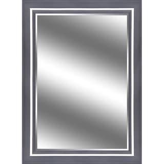 Reflection Espresso Champagne 5-inch Frame 1-inch Bevel Mirror