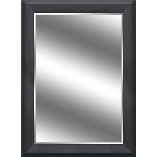 Reflection Beveled Mirror with Black Woodgrain 5-inch Frame