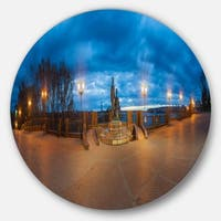 Designart 'Monument to Armories Panorama' Landscape Disc Metal Wall Art