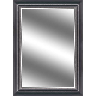 Reflection 44x60-inch Bevel Mirror with 5-inch Black/ Silver Frame