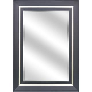 Reflection 31-inch x 43-inch x 1-inch Bevel Mirror with Espresso Champagne Color 5-inch Frame