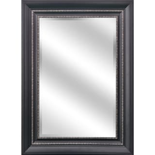 Reflection Black/Silver Frame 31 x 43 Beveled Wall Mirror