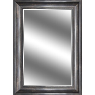 Y-Decor Reflection Ember Bronze 31 x 43-inch Beveled Mirror with Woodgrain 3.75-inch Frame