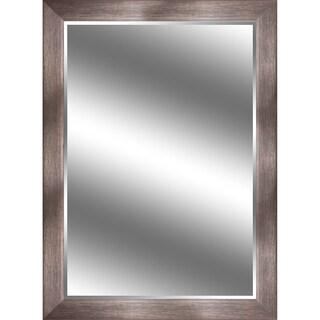 Reflection Bronze Woodgrain-finish 3.75-inch Frame 44-inch x 60-inch Beveled Mirror