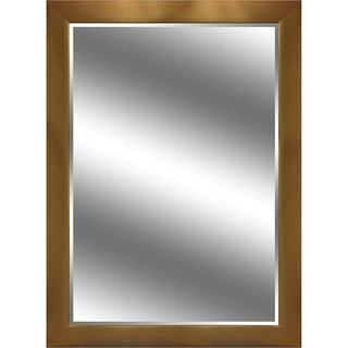 Y-Decor Reflection Gold Colored Frame 44 x 60-inch Beveled Mirror