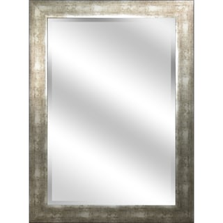 Reflection 31-inch x 43-inch x 1-inch Bevel Mirror with 3.75-inch Champagne Color Frame