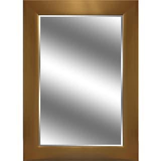 Reflection Gold-tone Vertical Beveled Mirror