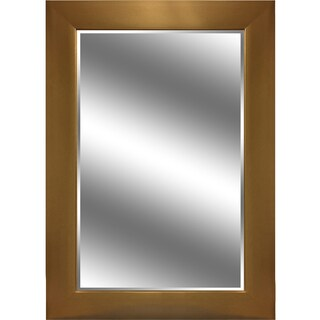Y-Decor 'Reflection' Gold-tone Vertical Beveled Mirror