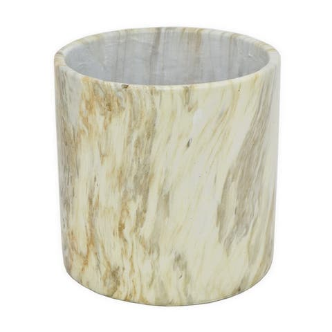 Three Hands Marble Finish Planter