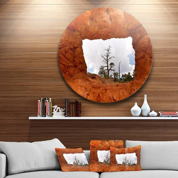 Designart Sky Through Red Canyon Window Contemporary