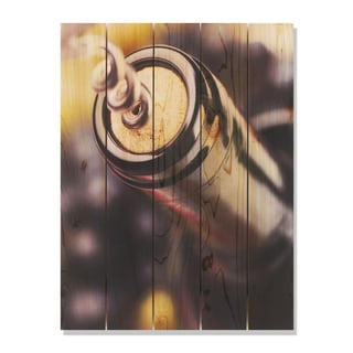 Un Wind 28x36 Indoor/Outdoor Full Color Cedar Wall Art