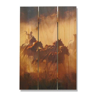 Raw Hide 16x24 Indoor/Outdoor Full Color Cedar Wall Art
