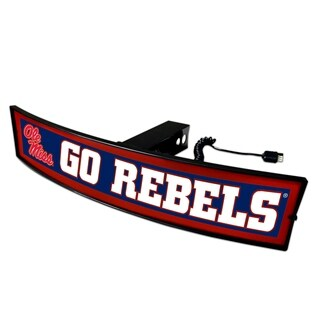 Fanmats Mississippi Ole Miss Go Rebels Light-up Hitch Cover
