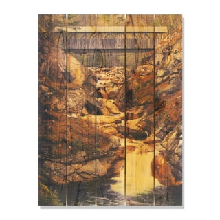 Covered Bridge 28x36 Indoor/Outdoor Full Color Cedar Wall Art