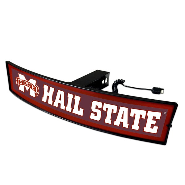 Fanmats Mississippi State Hail State Acrylic Light-up Hitch Cover