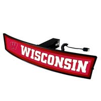 Wisconsin Badgers Translucent Red Acrylic Light-up Hitch Cover