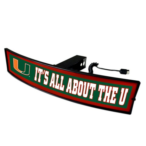 Fanmats Miami It's All About the U Light-up Hitch Cover