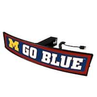 Michigan Go Big Blue Light Up Hitch Cover