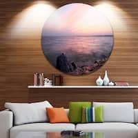 Designart 'Discontinued product' Beach Round Wall Art