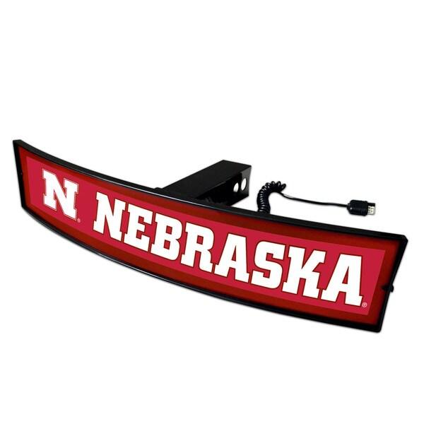 Fanmats Nebraska Acrylic Light-up Hitch Cover
