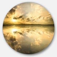 Designart 'Amazing Foreshore Reserve Reflection' Seashore Disc Metal Wall Art