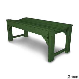 Traditional Garden Polywood 48-inch Backless Bench