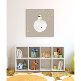 Oliver Gal 'Sheep And Moon Best Friends' Canvas Art