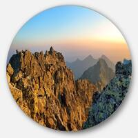 Designart 'View from Baranie Rohy Peak' Landscape Photo Disc Metal Artwork