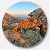 Designart 'Tatra Mountains Peak' Landscape Photography Circle Wall Art