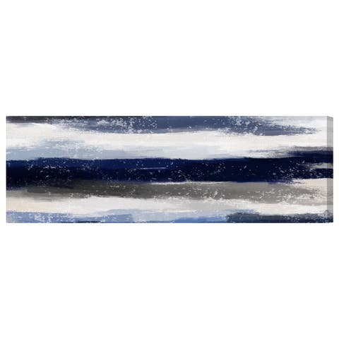 Oliver Gal 'Sapphire Shades Long' Abstract Wall Art Canvas Print - Blue, Gray